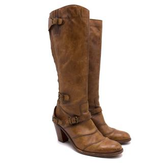 Belstaff Trialmaster Knee-high Heeled Boots