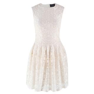 Simone Rocha Cream Embroidered Mini Dress