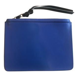 Proenza Schouler Blue Leather Clutch