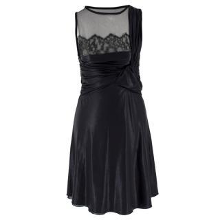 Valentino Silk-blend Gathered Knot Front Mini Dress