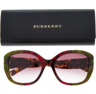 Burberry Burgundy & Dark Green Tinted Sunglasses