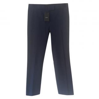 Joseph navy ankle grazer trousers
