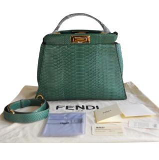 Fendi python and lizard peekaboo medium handbag