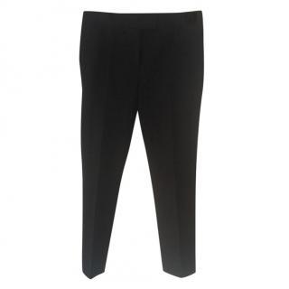 Joseph black ankle grazer trousers