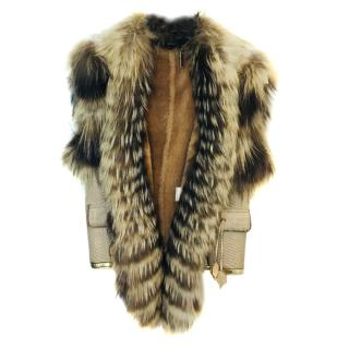 Roberto Cavalli Leather and Fur Gilet
