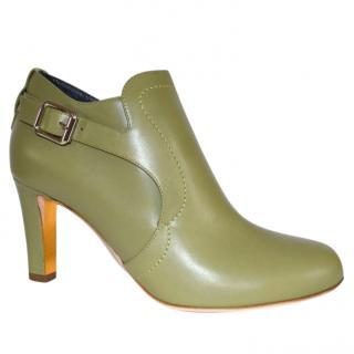 Rupert Sanderson Jocasta Olive green Calf Leather Ankle Boot