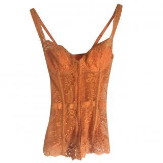 La Perla orange lace Corset