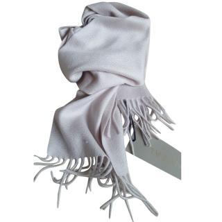 N.Peal cashmere scarf snow grey
