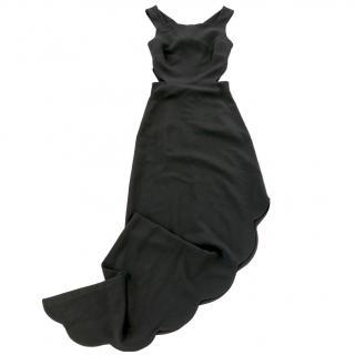 Osman Resort 2015 Scallop Edge Asymmetric Gown Dress NWT