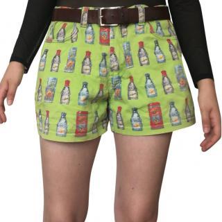 Versace rare green patterned Shorts