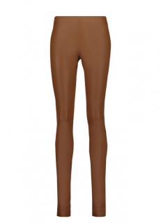 Joseph cognac leather leggings