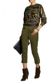 Isabel Marant 'Hamilton' Sequined Cotton-Jersey Blend Sweatshirt
