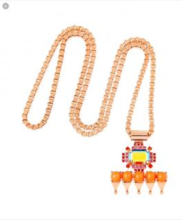 MAWI rose gold plated crystal pendant