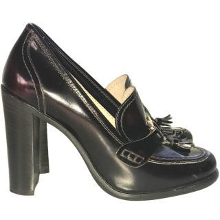 Ferragamo black loafer pumps