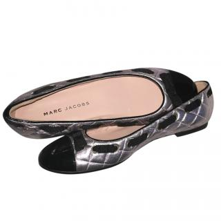 Marc Jacobs quilted silver pumps