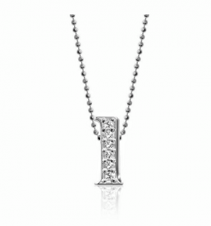 Alex Woo 'L' 14kt White Gold and Diamonds