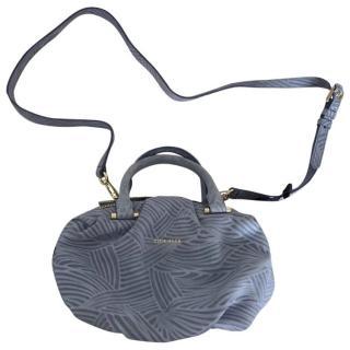 Cole Haan Blue Leather Satchel Bag
