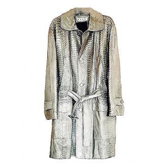 Marni Oversized Python Coat