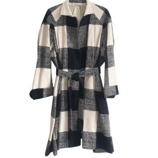 Yves Saint Laurent Coat Black & White trench
