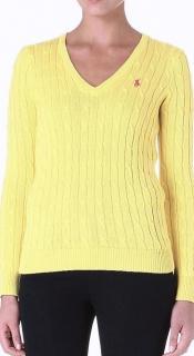 Ralph Lauren Sport Women's Yellow Cable Knit Jumper