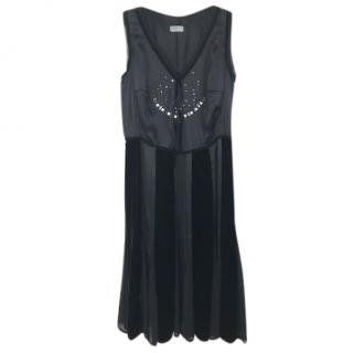 Marella Silk & Velvet Dress