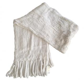 Bespoke White rabbit fur scarf