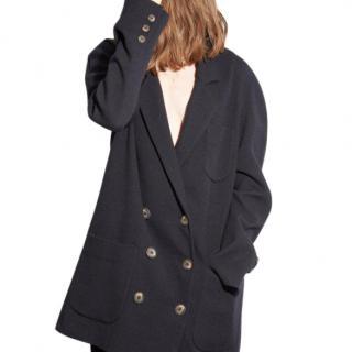 Raey Navy Oversized Wool-blend Oversized Wool  Blazer - Current