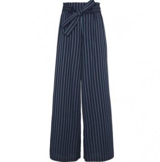 Osman 'Paloma' Cotton Stripe Wide Leg Trousers