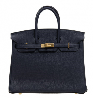 Hermes Bleu Encre Togo Leather 35cm Birkin Bag