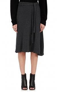 Paco Rabanne Wool-Blend A-Line Skirt