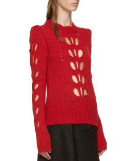 Isabel Marant Ilia Scarlet Cut-Out Detail Sweater