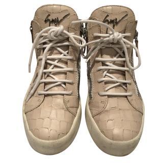 Guiseppe Zanotti Mock Croc Hi-top sneakers