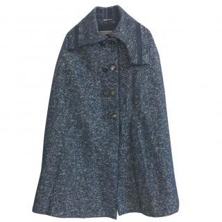 Sportmax Wool & Alpaca Cape Coat