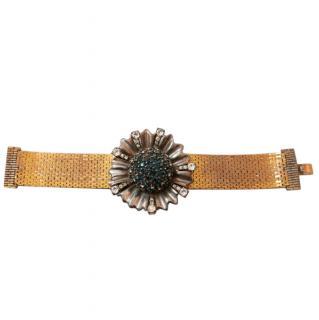 Ciner 1940/50s Vintage Cornflower Crystal Bracelet w/Box