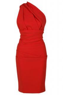 Preen red plaza dress