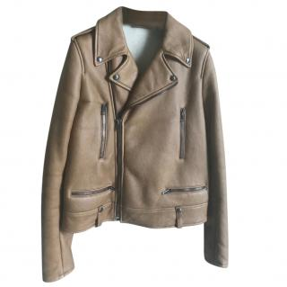 Joseph Camel leather biker jacket