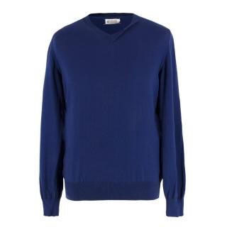 Maison Martin Margiela Blue Knit Jumper
