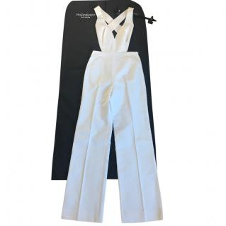 Yves Saint Laurent white tailored jumpsuit
