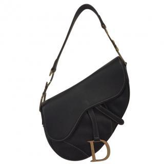 Christian Dior Black Saddle Bag