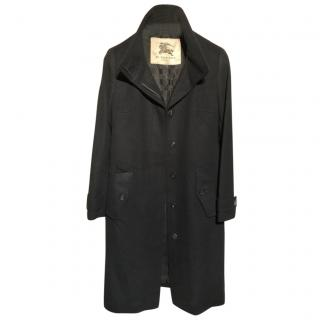 Burberry wool & cashmere funnel neck coat