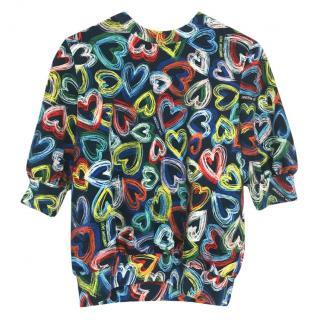 Love Moschino Scribble Heart Sweater