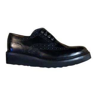 Grenson Women's Black Brogue Shoes
