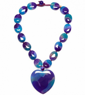 Lola Rose Coral Agate Strand Heart Necklace