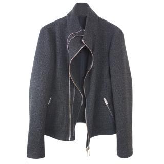 Emporio Armani Wool Jacket with Asymmetric Zip Fastening
