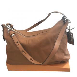 Coach Tan Leather Shoulder Bag