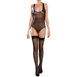 Maison Close Nuit Blanche black sheer body