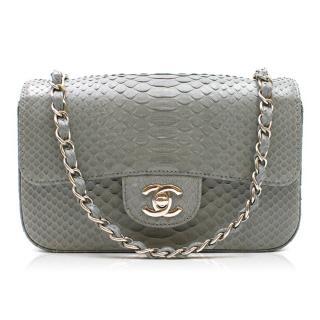 Chanel Grey Python Mini Flap Bag