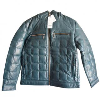 Pagelo green leather down jacket