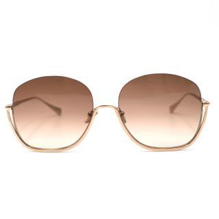 Sunday Somewhere Gold Delilah Sunglasses