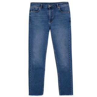 Raey Raw Hem Straight Leg Jeans